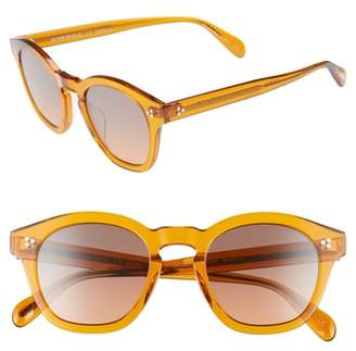 Oliver Peoples Boudreau L.A. 48mm Round Sunglasses