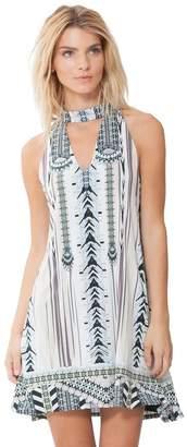 Hale Bob Xiomara Sleeveless Choker Dress
