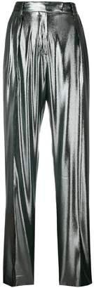 Alberta Ferretti high waisted straight trousers