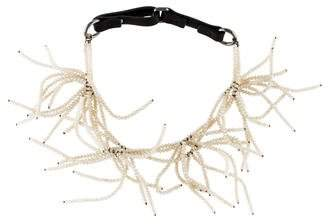 Brunello Cucinelli Crystal Cluster Choker Necklace