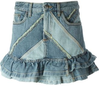 Marc By Marc Jacobs frill denim skirt $490.16 thestylecure.com