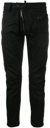 DSQUARED2 Leather Biker jeans