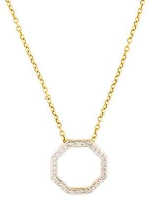 Phillips House 14K Diamond Octagon Pendant Necklace white Phillips House 14K Diamond Octagon Pendant Necklace