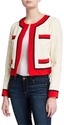 Milly Jinny Sustainable Cady Cropped Boxy Jacket