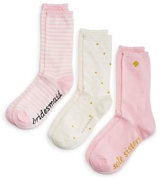 Kate Spade Bridesmaid Crew Socks, Set of 3