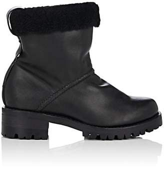 75fc662af7bad Feit Women's Shearling-Lined Leather Ankle Boots - Black