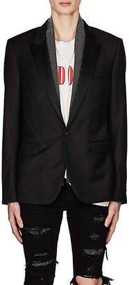Amiri Men's Studded-Scarf Wool One-Button Sportcoat - Black