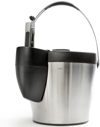 OXO Steel Ice Bucket with Tongs
