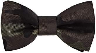 Valentino Men's Camouflage Silk Jacquard Bow Tie