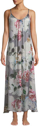 Christine Lingerie Jolie Floral-Print Silk Nightgown