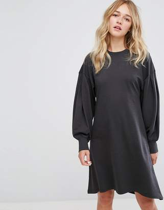 Monki Skater Midi Sweat Dress $56 thestylecure.com