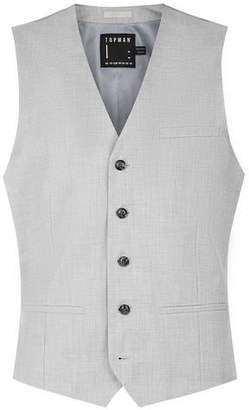 Topman Mens Light Blue Skinny Fit Suit Vest