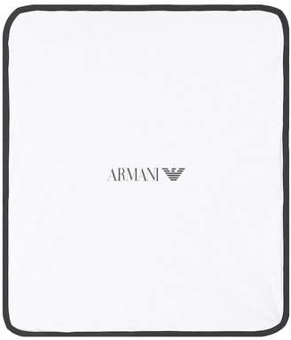 Emporio Armani Kids Cotton baby blanket