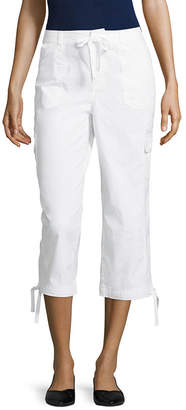 ST. JOHN'S BAY Drawstring Cargo Crop - Tall Inseam 21.5