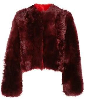 Calvin Klein Cropped Shearling Coat