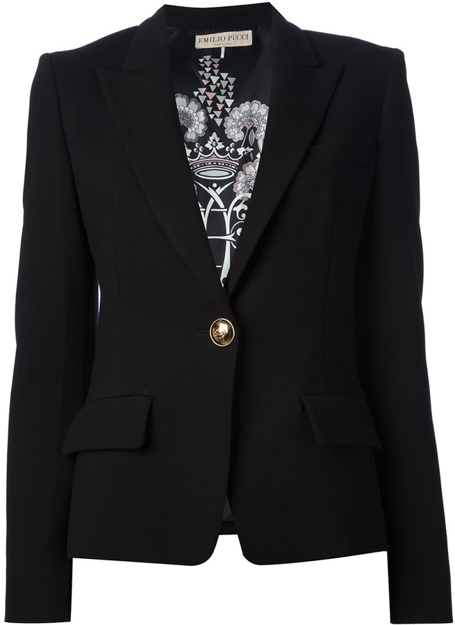 Emilio Pucci one-button blazer