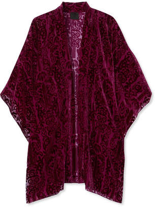 Anna Sui - Fairy Fields Devoré-chiffon Kimono - Purple