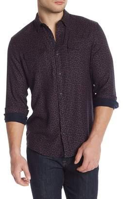 WALLIN & BROS Printed Flap Pocket Long Sleeve Shirt