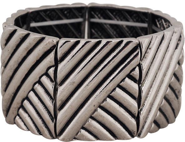 Forever 21 Asymmetrical Stripes Bracelet
