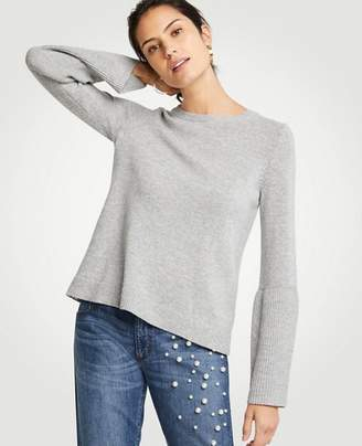 Ann Taylor Wide Rib Sleeve Sweater