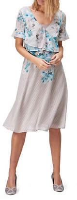 Jacques Vert Printed Dobby Soft Dress