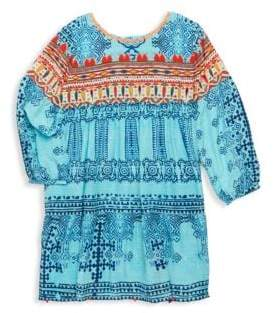 Hemant & Nandita Toddler's, Little Girl's& Girl's Printed Silk Crepe Tunic Dress