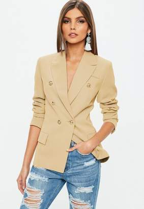 Missguided Nude Military Blazer