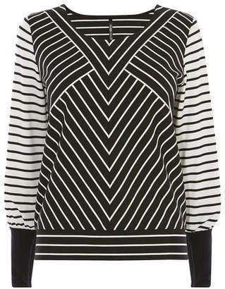 Karen Millen Stripe Jersey Top