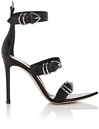 Gianvito Rossi Women's Leather Ankle-Strap Sandals - Black