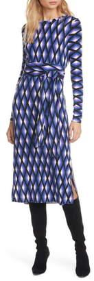 Diane von Furstenberg Gabel Long Sleeve Merino Wool Dress