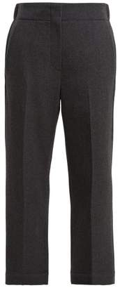 Raey Elasticated Back Wool Trousers - Womens - Grey