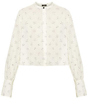 Theory Women's Cropped Button-Down Shirt