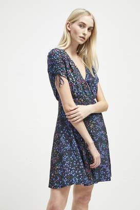 French Connection Aubine Drape Floral Dress