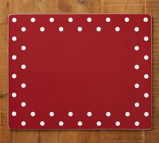 Pottery Barn Red Dot Rectangle Cork Placemat, Set of 4