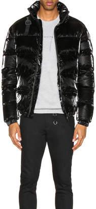 Alyx Nylon Buckle Puffer Coat in Black   FWRD