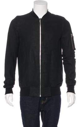 Rick Owens Suede Bomber Jacket w/ Tags