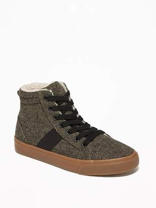 Old Navy Sherpa-Lined Tweed High-Tops for Boys