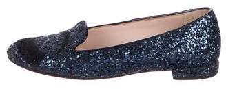 Chiara Ferragni Glitter Round-Toe Flats