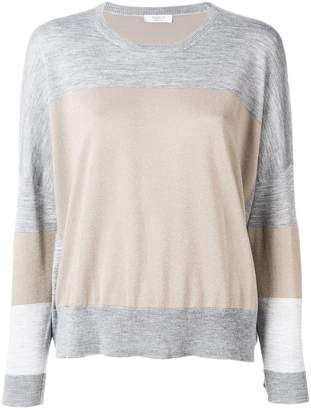 Peserico colour block sweater