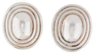 Christian Dior Oval Clip-On Earrings