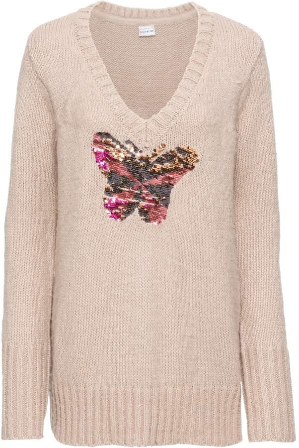 Buy BODYFLIRT Weiter Pullover mit Pailletten!