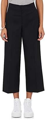 VIS A VIS Women's Cotton Twill High-Waist Crop Trousers