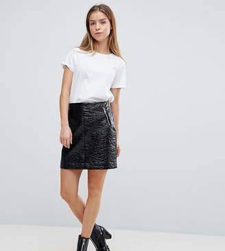 Noisy May Petite Vinyl Mini Skirt