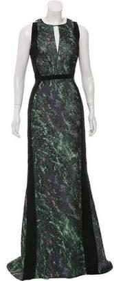 J. Mendel Jacquard Sleeveless Gown