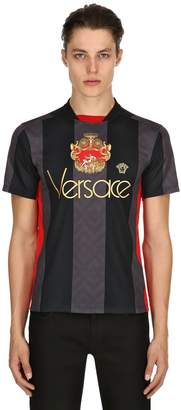 Versace Crest Striped Techno Football Jersey