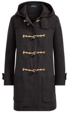 Ralph Lauren Wool-Blend Toggle Coat Charcoal Xs