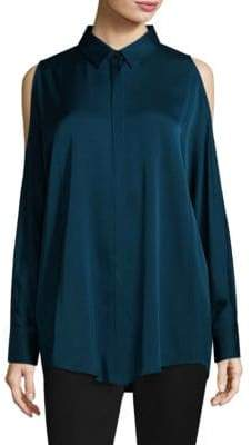 Donna Karan Cold-Shoulder Shirt
