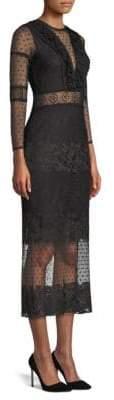 Alexis Elize Lace Mesh Sheath Dress