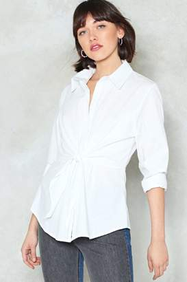 Nasty Gal One Last Tie Relaxed Shirt