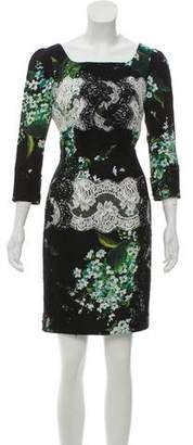 Dolce & Gabbana Lace-Trimmed Floral Print Dress